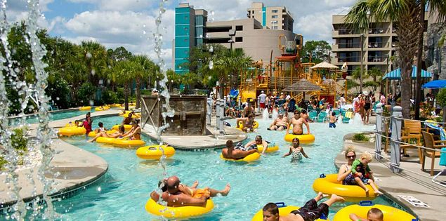 There are many family-friendly resorts in Myrtle Beach, SC.