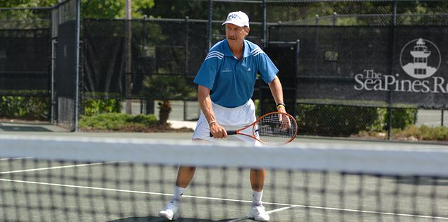 Stan Smith is a famous touring pro at The Sea Pines Resort on Hilton Head Island, SC.