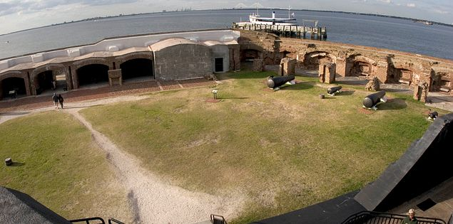 Battle lines were drawn at Fort Sumter.