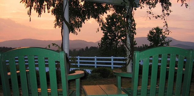 Sunset view at the Red Horse Inn in the Blue Ridge Mountains