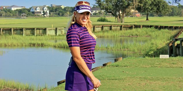 South Carolina's Natalie Gulbis at Pawleys Plantation Golf Club