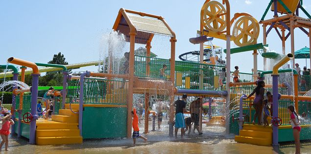 The water park at Carowinds is fun for the entire family!