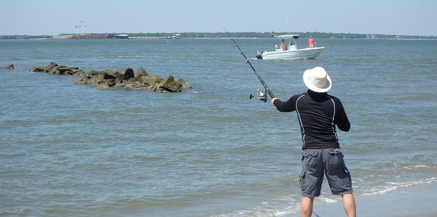 Sullivans Island surf fishing