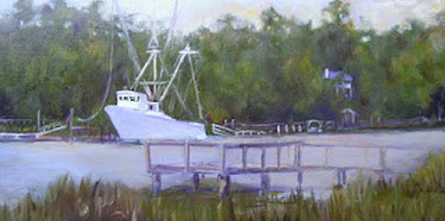 Painting of Edisto by artist Noelle Brault out of Columbia, South Carolina
