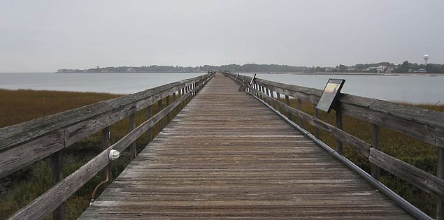 Fishing pier in Lowcountry South Carolina's Hunting Island State Park