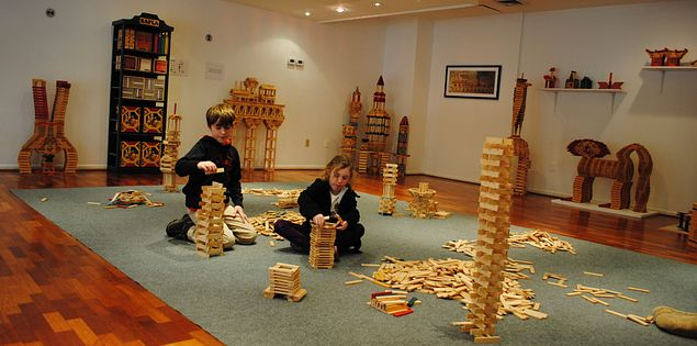Play with Kaplaus blocks at Tom's Toys