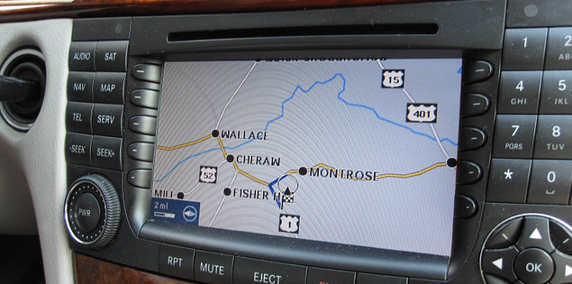 GPS used to travel the backroads of South Carolina