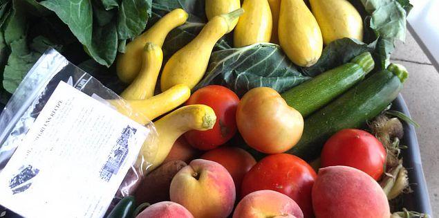 Fresh produce from South Carolina farmers at Columbia's Vista Marketplace