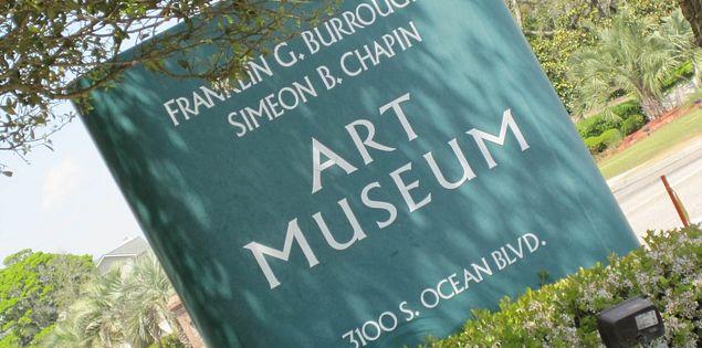 Art museum sign