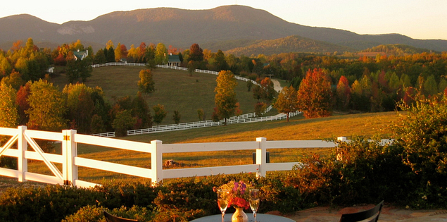 South Carolina's Red Horse Inn, a AAA Four-Diamond bed and breakfast in the foothills of the Blue Ridge Mountains