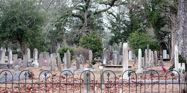 Graveyard at Old St. David's Church in Cheraw, South Carolina