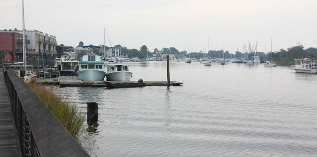 South Carolina's Sampit River at historic downtown Georgetown