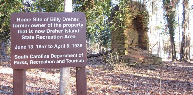 Billy Dreher Nature Trail on Dreher Island in South Carolina