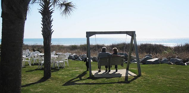 The view from the Sea Captain's House in Myrtle Beach, South Carolina