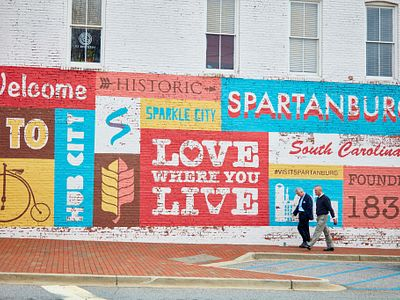 mural in downtown spartanburg south carolina