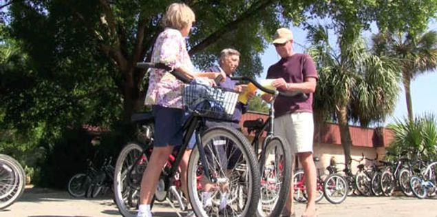 Renting bikes on Hilton Head Island, South Carolina