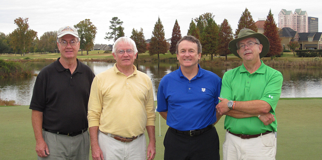 Golfing buddies at Hickory Knob and Savannah lakes golf courses in South Carolina