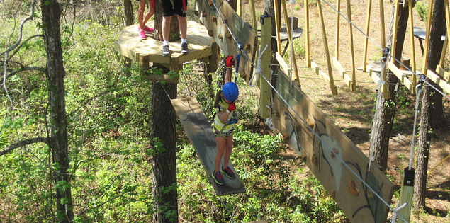 Girl climbing at Aerial Adventures in Hilton Head
