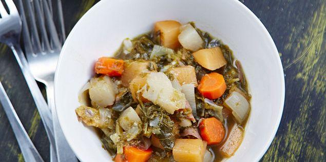 South Carolina rice topped with Gullah/Geechee stew.