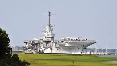 The USS Yorktown aircraft carrier docked in Patriots Point, Charleston, SC
