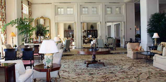 The lobby of The Sanctuary at Kiawah Island