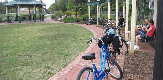 Gazebos on the Swamp Rabbit Trail in South Carolina