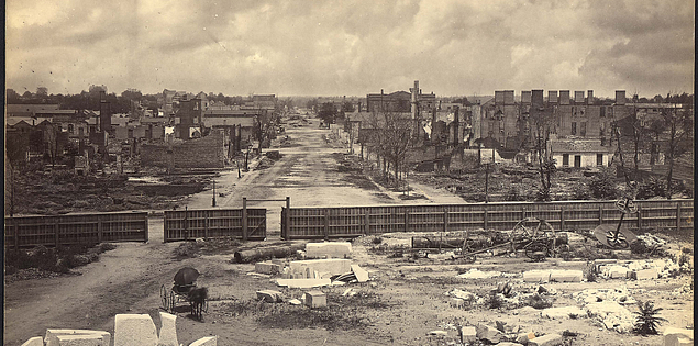 Photographs of burned Columbia, South Carolina