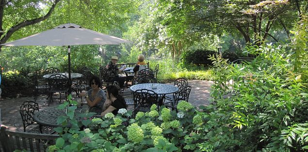 Mary's at Falls Cottage offers beautiful views of the great outdoors and mouthwatering meals.