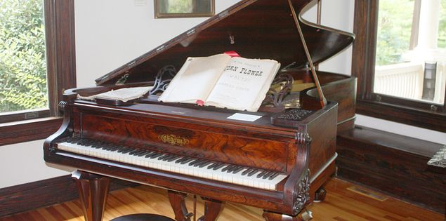 Chickering & Sons Grand Piano at the Lunney House Museum