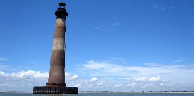 South Carolina's Morris Island Lighthouse in Charleston Harbor