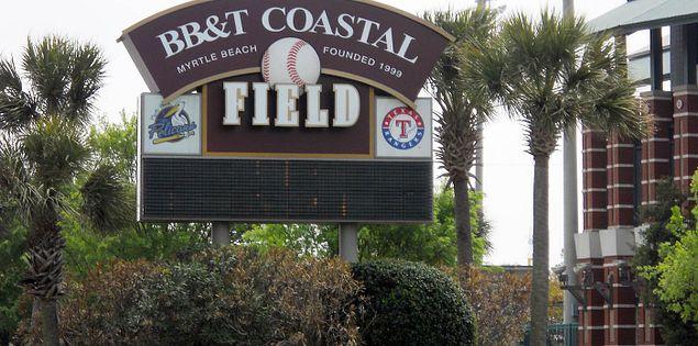 Sign for South Carolina's BB&T Coastal Field