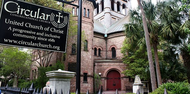 Exterior of Circular Congregational Church in Charleston