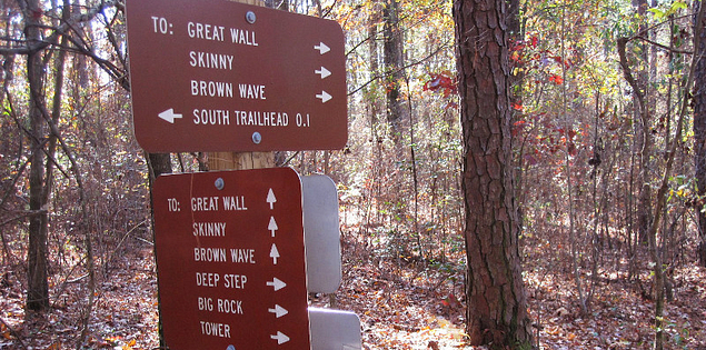 Sign for the Forks Area Trail System in South Carolina