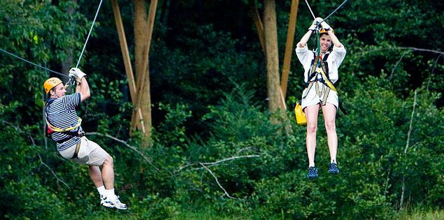 Zipline across the Chattooga River in South Carolina