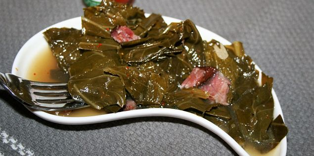 Collard Greens vinegar hot sauce