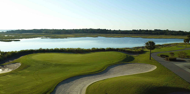 18th hole at Kiawah Island Resort's Oak Point Course