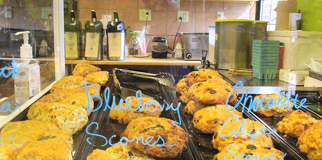 Scones that are sold in the Swamp Rabbit Cafe and Grocery