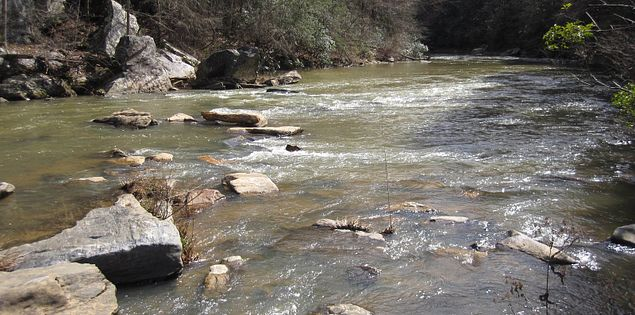 Chauga River winding through South Carolina's Upstate