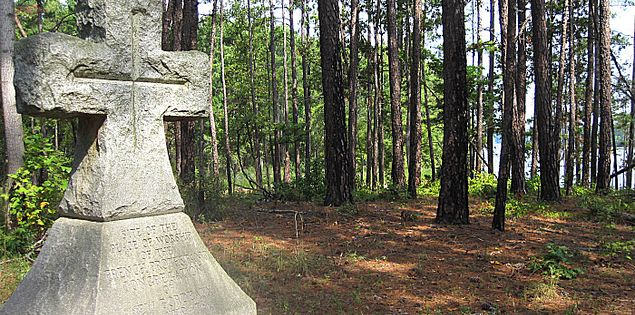 McCormick County French Huguenot worship site in South Carolina
