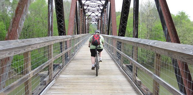 Biking the Palmetto Trail through the state of South Carolina