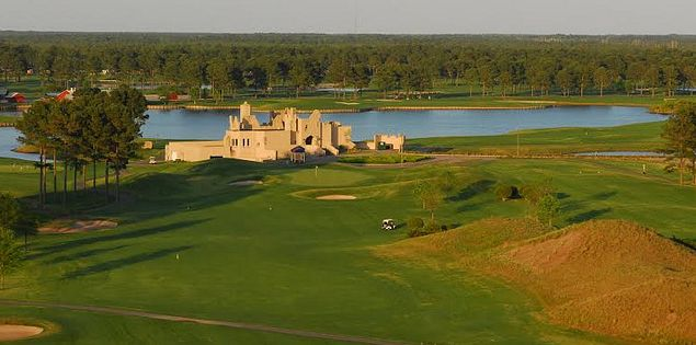 The castle-style clubhouse at Myrtle Beach's Wizard Golf Course