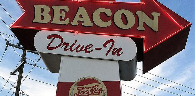 beacon drive in sign