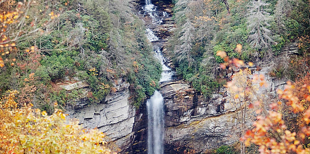 South Carolina's Raven Cliff Falls in Caesars Head State Park