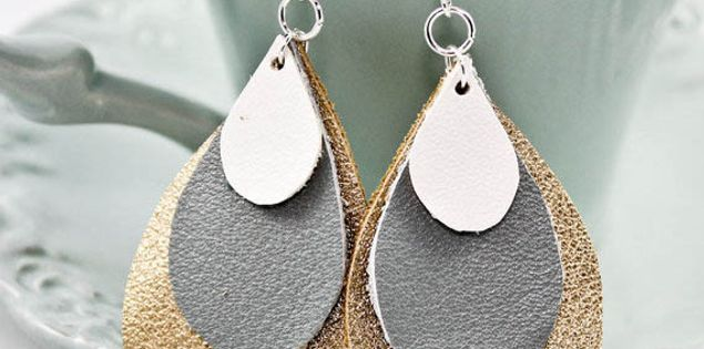 Teardrop earrings made by Mandell in Greenville, South Carolina