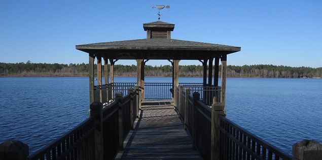 Lake Warren pier.