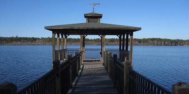 Lake Warren pier.