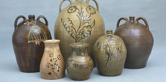 Wide variety of South Carolina handmade pottery