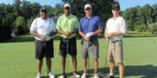 South Carolina State football coach Buddy Pough with Lorenzo Ward, G.A. Mangus and Steve Spurrier Jr.