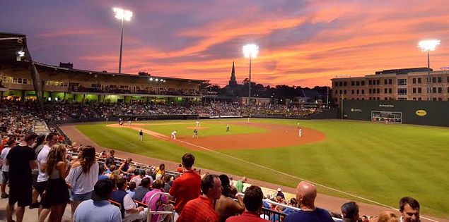 Fluor Field, home of the Greenville Drive minor league baseball team.