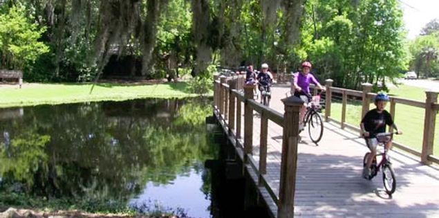 Bicyclists on Hilton Head Island, South Carolina